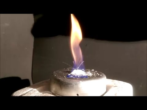 Burning Ice - Fire Ice -  Methane Hydrate - (Dark room settings)