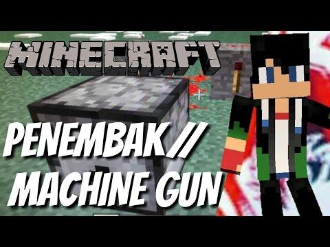 Cara membuat senjata pertahanan di Minecraft P.E