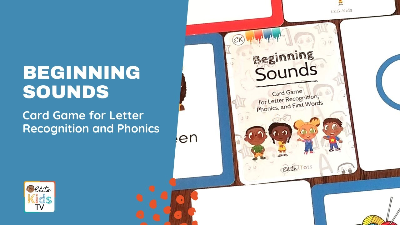 Beginning Sounds Card Game for Letter Recognition and Phonics