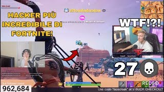 CLOAK VIENE UCCISO OF THE HACKER MORE ASSURDO OF FORTNITE! MAXIMUM DISTANCE WITH THE MINIGUN! 27 KILL