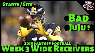 2019 Fantasy Football Advice - Week 3 Wide Receivers - Start or Sit? Every Match Up
