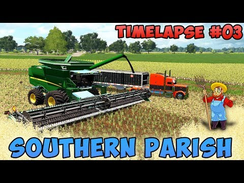 Farming simulator 17 | Southern Parish with Seasons | Timelapse #03 | Harvest canola and millet