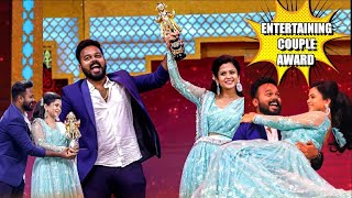 Entertaining Star Couple award from Blacksheep 🥇Exclusive full video | Hussain Manimegalai
