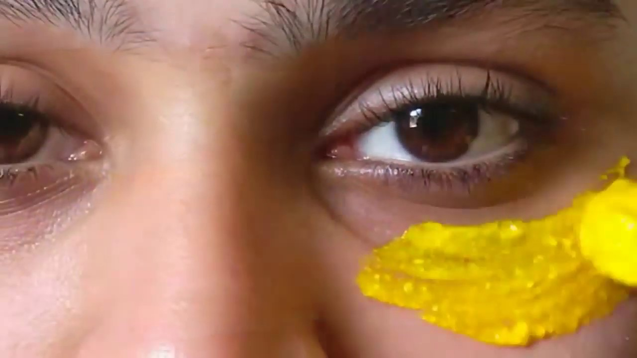 Remove DARK CIRCLES with Turmeric Eye mask to | Glowing ...