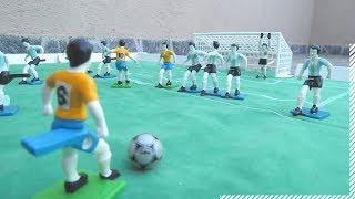 Futebol Gulliver - Similar Subbuteo e Botão - Brasil x Argentina Jogo Brinquedo