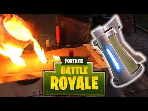 Making Aluminium Fortnite Grenade - Father and Son playing with sand !