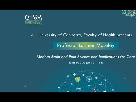 University of Canberra, Faculty of Health presents: Professor Lorimer Moseley