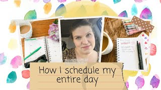 Plan with me: H๐w I block schedule my entire day + tips for scheduling