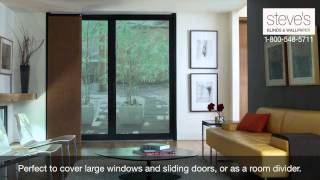 Use Levolor Panel Tracks For Large Windows, Doors Or As Room Dividers!