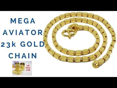 23kgold.com MEGA BAR LINK AVIATOR 15 BAHT THAI GOLD CHAIN