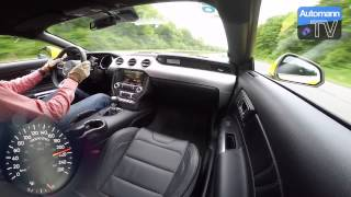2016 Ford Mustang GT 421hp   0 250 km h acceleration 60 fps
