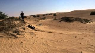 RC car dune bashing in Dubai desert.