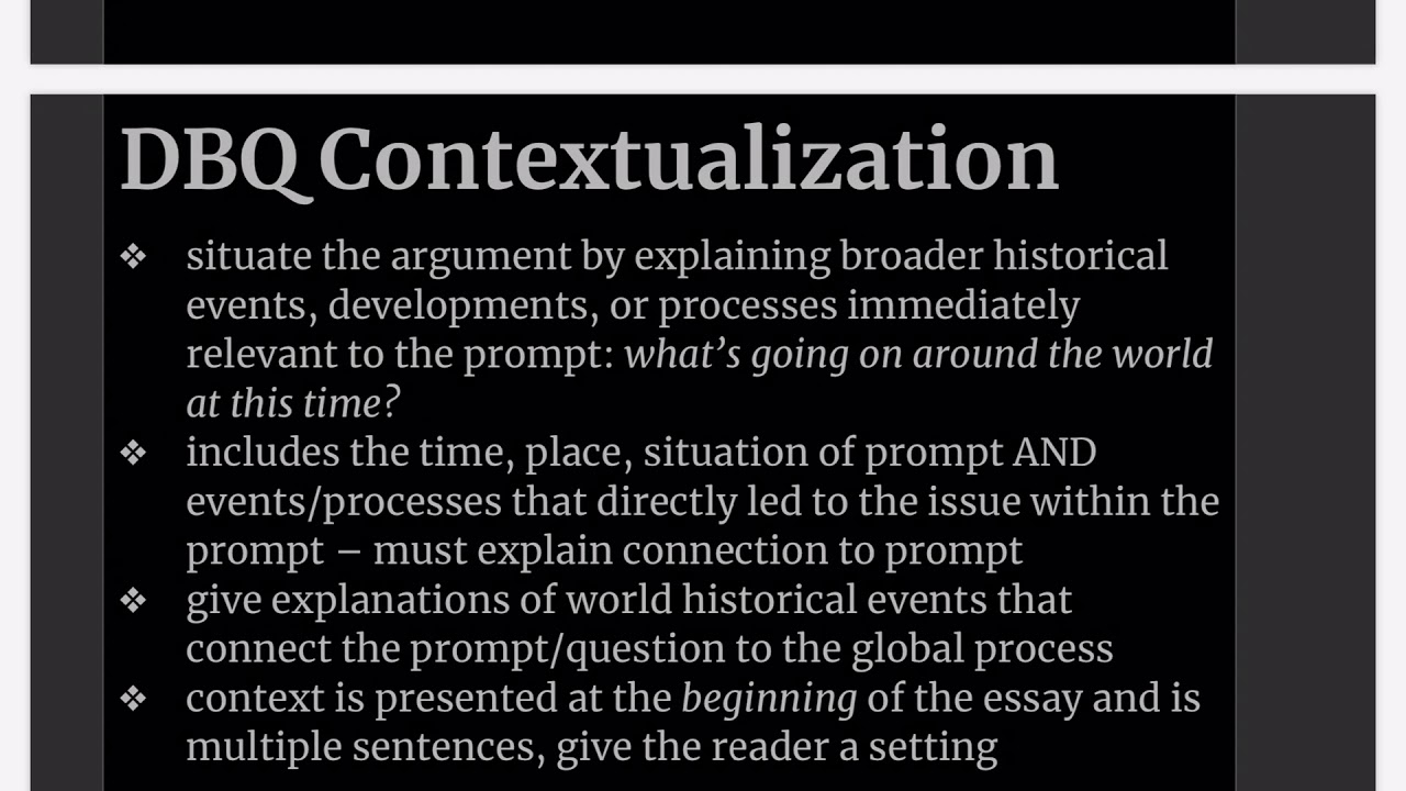 Contextualization essay writing lab report discussion sample