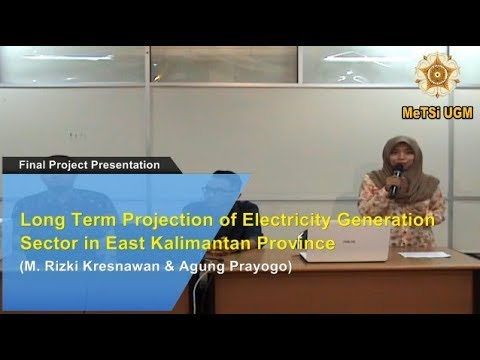 5 Long Term Projection of Electricity Generation Sector in East Kalimantan Province