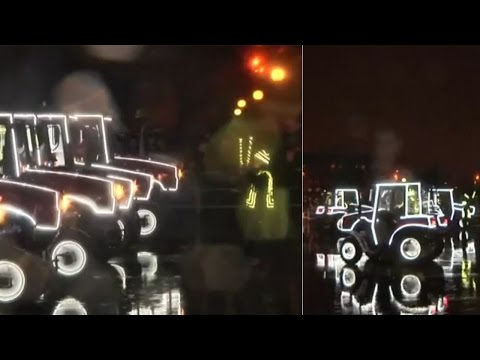 Watch | Tractor factory lights up for New Year in Belarus
