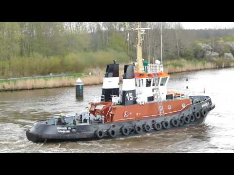 GERMAN WATERWAYS Part 2 The KIEL CANAL (HD1080)
