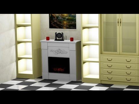 Como hacer un mueble para chimenea el ctrica youtube - Modelos de chimeneas electricas ...