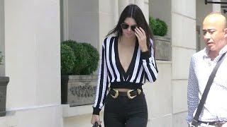 EXCLUSIVE - Kendall Jenner running errands in Paris