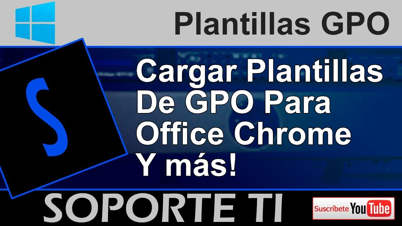 Cargar plantillas de GPO para Office, Adobe y más - Active Directory ...