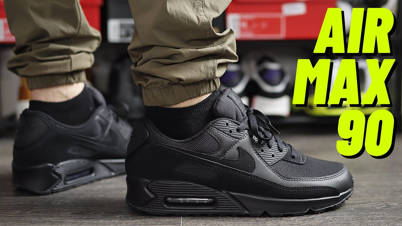 BEST EVERYDAY SHOE? Nike Air Max 90 Triple Black On Feet Review