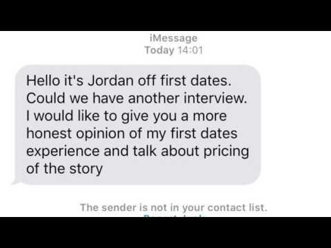 FIRST DATES SUPERSTAR JORDAN HILLIER EXCLUSIVE