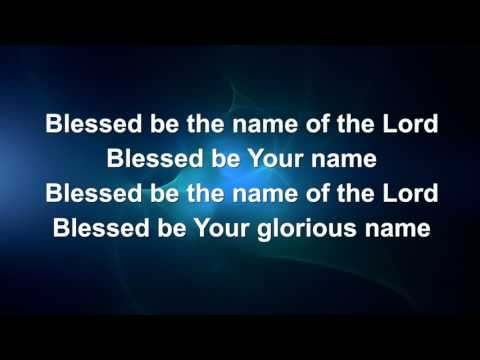 Blessed Be Your Name (Matt Redman) - Lyric video // Instrumental (from iSingWorship)