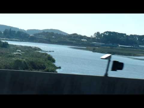 만경강 , Mangyeonggang River. From Jeonju to Gunsan  by Express Bus .군산여행  . North Jeolla   . KOREA