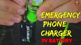 How to Charge Your Phone with 9v Battery!(Subscribe to SlowMoLaboratory https://www.youtube.com/user/SlowMoLaboratory Subscribe to my 2nd channel https://www.youtube.com/user/origami768., 2014-10-16T18:00:35.000Z)