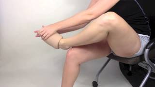 Removing Thigh-high Stocking using SIGVARIS Doff N