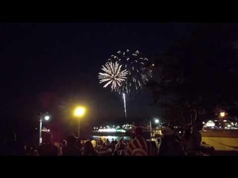 Fireworks show from Redondo Beach California July 4th 2017