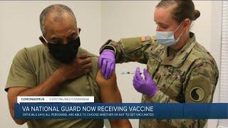 Virginia National Guard members begin receiving COVID-19 vaccine