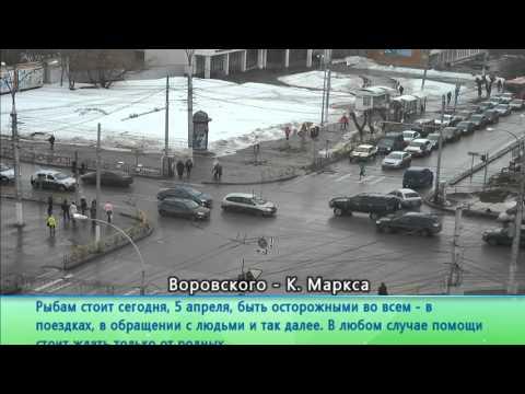 Утреннее онлайн вещание камер с самых оживленных перекрестков на Первом городском канале