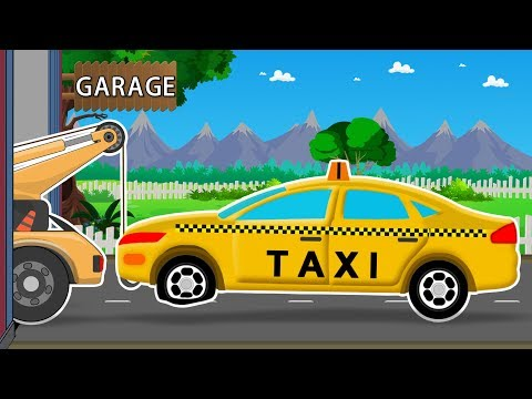Taxi | Car Garage | Car Repair Video For Kids