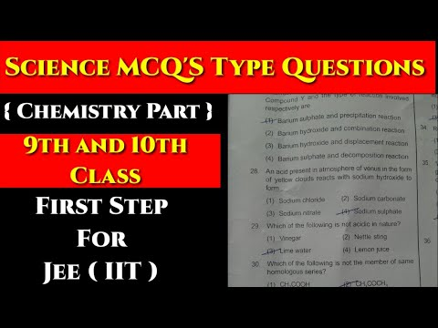 First Step Course For IIT-JEE I Science MCQ'S For Class 9