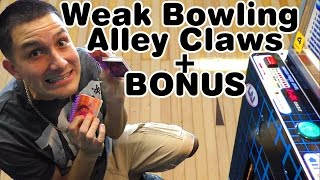 Weak Bowling alley claw machines + Cheating stacker!