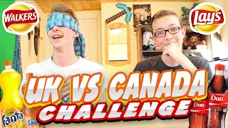 SKY vs FIN | EP 17 | UK VS CANADA CHALLENGE!! (Junk Food Edition)