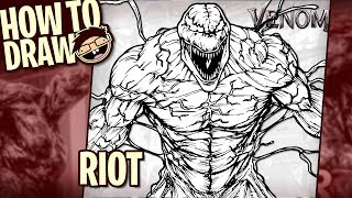How to Draw RIOT (Venom) | Narrated Easy Step-by-Step Tutorial