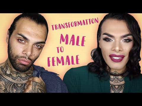 Male To Female Makeup Transformations