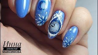 ❄ ЗИМНИЙ дизайн ногтей ❄ PATRISA NAIL ❄ НОВОГОДНИЙ маникюр ❄ рисуем НОВОГОДНИЕ часы на ногтях ❄