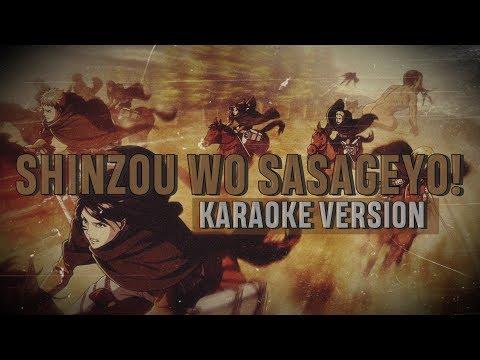 SHINZOU WO SASAGEYO! - ATTACK ON TITAN 進撃の巨人 OP 3 [KARAOKE VERSION | OFF VOCAL/LINKED HORIZON]🌙