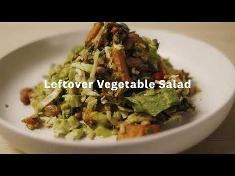 Thumbnail to launch Leftover Vegetable Salad video