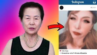 Korean Grandma becomes an INSTAGRAM BADDIE
