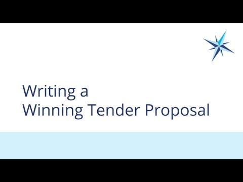 Writing a Winning Tender Proposal