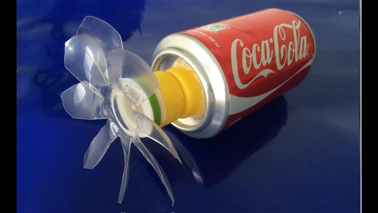 كيفية صنع مروحة من علب كوكا كولا Youtube