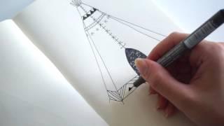 quick teepee illustration