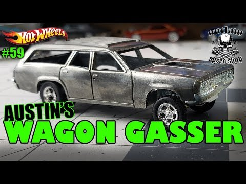 Hot Wheels Plymouth Wagon Gasser Custom
