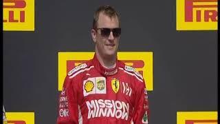 F1 USA 2018 - Podium - Super Kimi!!