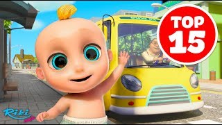 Колеса на автобусе | The Wheels on the Bus - Songs for Children | LooLoo Kids TOP 15