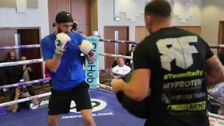THE ROCK HAMMER! - ROCKY FIELDING BATTERS THE PADS WITH JAMIE MOORE AHEAD OF BROPHY CLASH