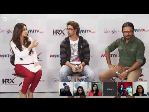 Asia's First Shoppable Hangout with Hrithik and Google Plus hosted by Myntra